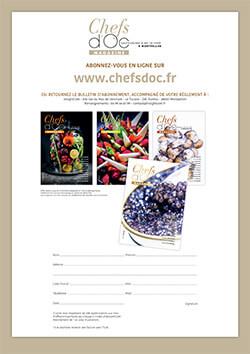 Formulaire d'abonnement au Magazine Chefs d'Oc